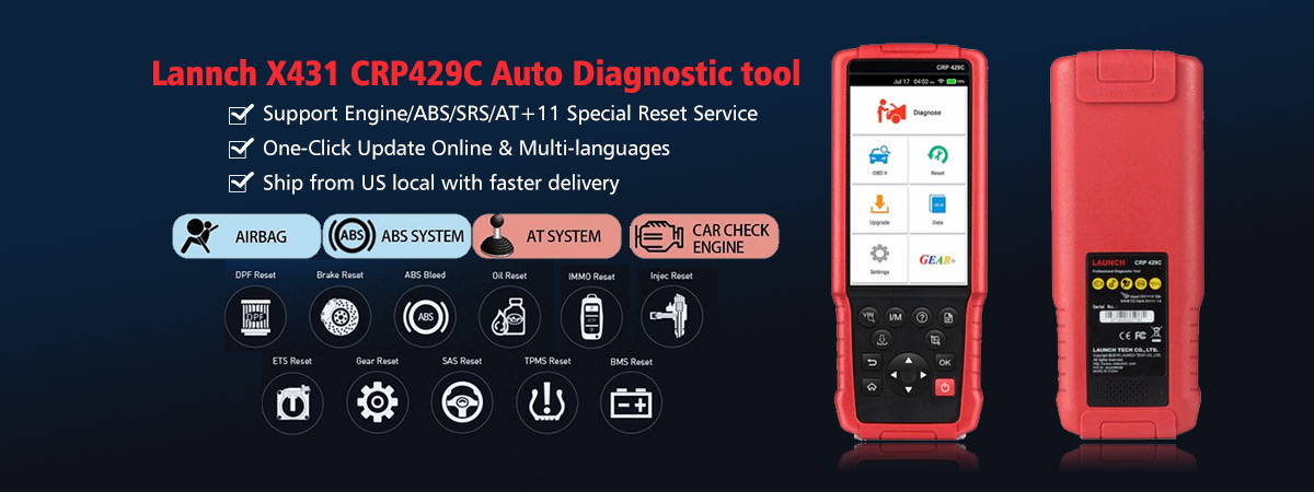 Launch X431 CRP429C Auto Diagnostic Tool for Engine/ABS/SRS/AT+11 Service