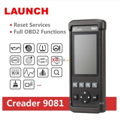 Original Launch CReader 9081 CR9081 Full System Scan Tool with 11 Reset Functions Support OBD/ ABS/ Oil/ EPB/ BMS/ SAS/ DPF