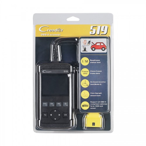Launch CReader 519 OBD2 Code Reader Read Vehicle Information Diagnostic Tools