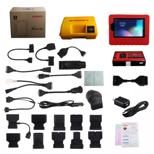 Supports Indian Cars LAUNCH X431 5C Pro Wifi/Bluetooth Tablet/Pad Diagnostic Tool Full Set X431 V Replacement