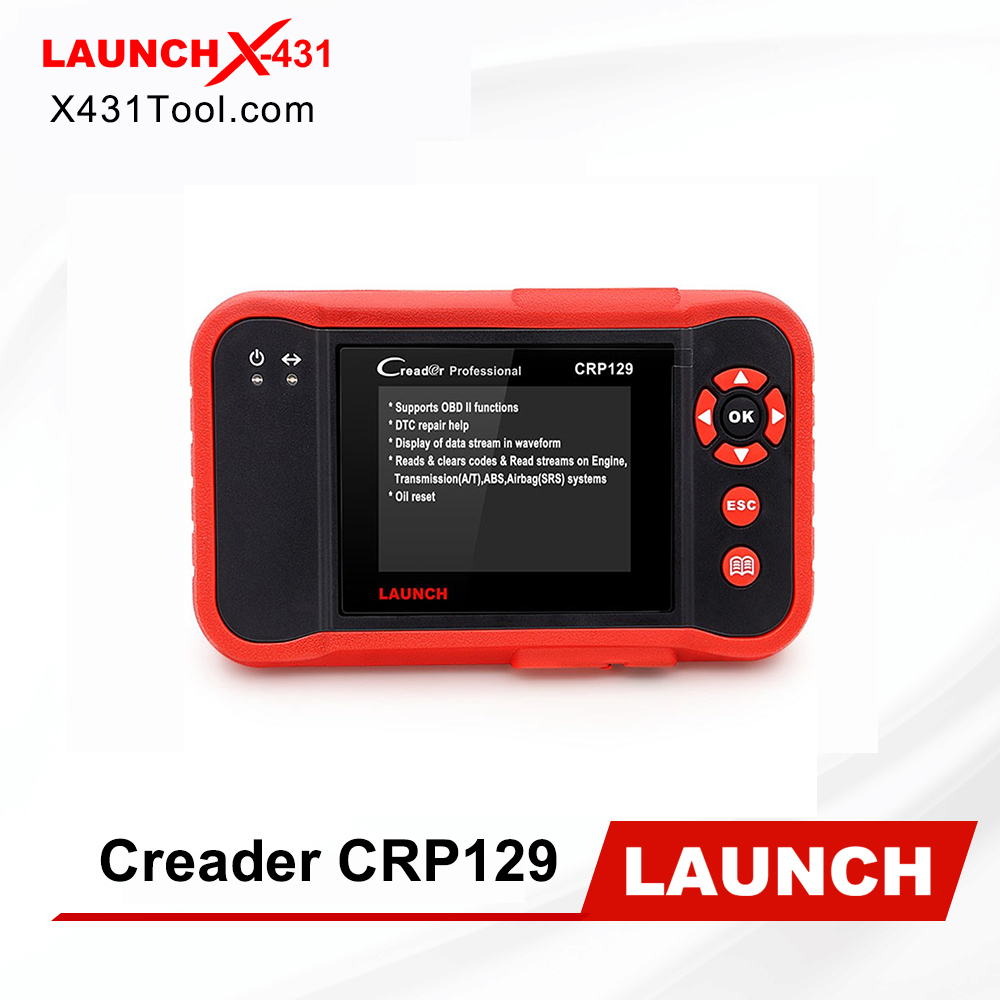 Android 7.0-Based Wi-Fi One-Click Free Updates Upgrade Version of CRP123 LAUNCH Scan Tool CRP123X OBD2 Scanner Check Engine ABS SRS Transmission Code Reader Car Diagnostic Tool 5.0LCD Touchscreen
