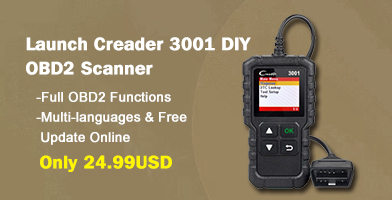 New Arrival Launch Creader 3001 OBDII / EOBD Code Reader Scanner Multilingual Same as Launch Creader 319