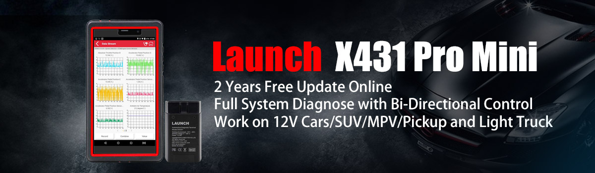 Original Launch X431 Pro Mini with 2 Years Free Update Online