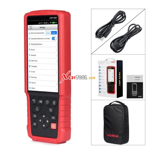 [Ship from US] Original LAUNCH CRP429C 4 Systems Diagnostic Scan Tool for Engine/ ABS/ Airbag/ AT + 11 Special Service Functions