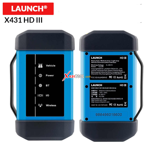 [618 Sale] Original Launch X431 HD III Heavy Duty Module Truck Diagnostic Tool Works with Launch 431 V+/ X431 PRO3/ X431 PADII/ X431 PAD3