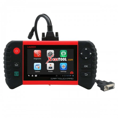 "[EU Edition] Launch Creader CRP Touch Pro 5.0"" Android Touch Screen Full System Diagnostic Tool with BENZ BMW Connector"
