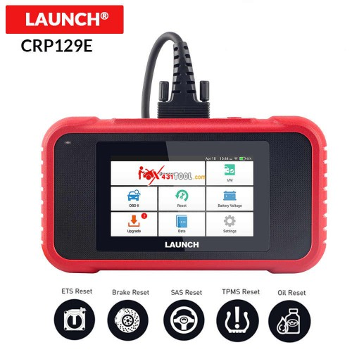 Original LAUNCH Creader CRP129E 4 System Diagnostic with Oil Service/ EPB/ SAS/ Throttle Body Reset