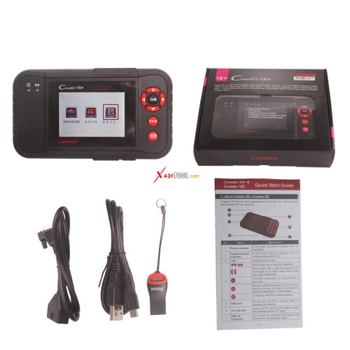 [Ship from US] Original Launch Creader VII+ 4 System Auto Code Reader for ABS SRS Transmission and Engine Same as Creader CRP123