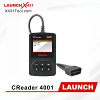 LAUNCH Creader 4001 CR4001 OBD2 Scanner for Turning Off Check Engine Light Reads and Clears Engine Fault Codes pk Creader V+ Autel AL319