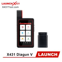Original LAUNCH X431 DIAGUN V Bi-Directional Full System Scan Tool with 2 Years Free Update (Upgrade Ver. of DIAGUN IV)