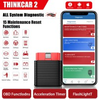[Ship from US] LAUNCH ThinkCar 2 Thinkdriver Bluetooth OBD2 Scanner for iPhone & Android PK Thinkdiag AP200