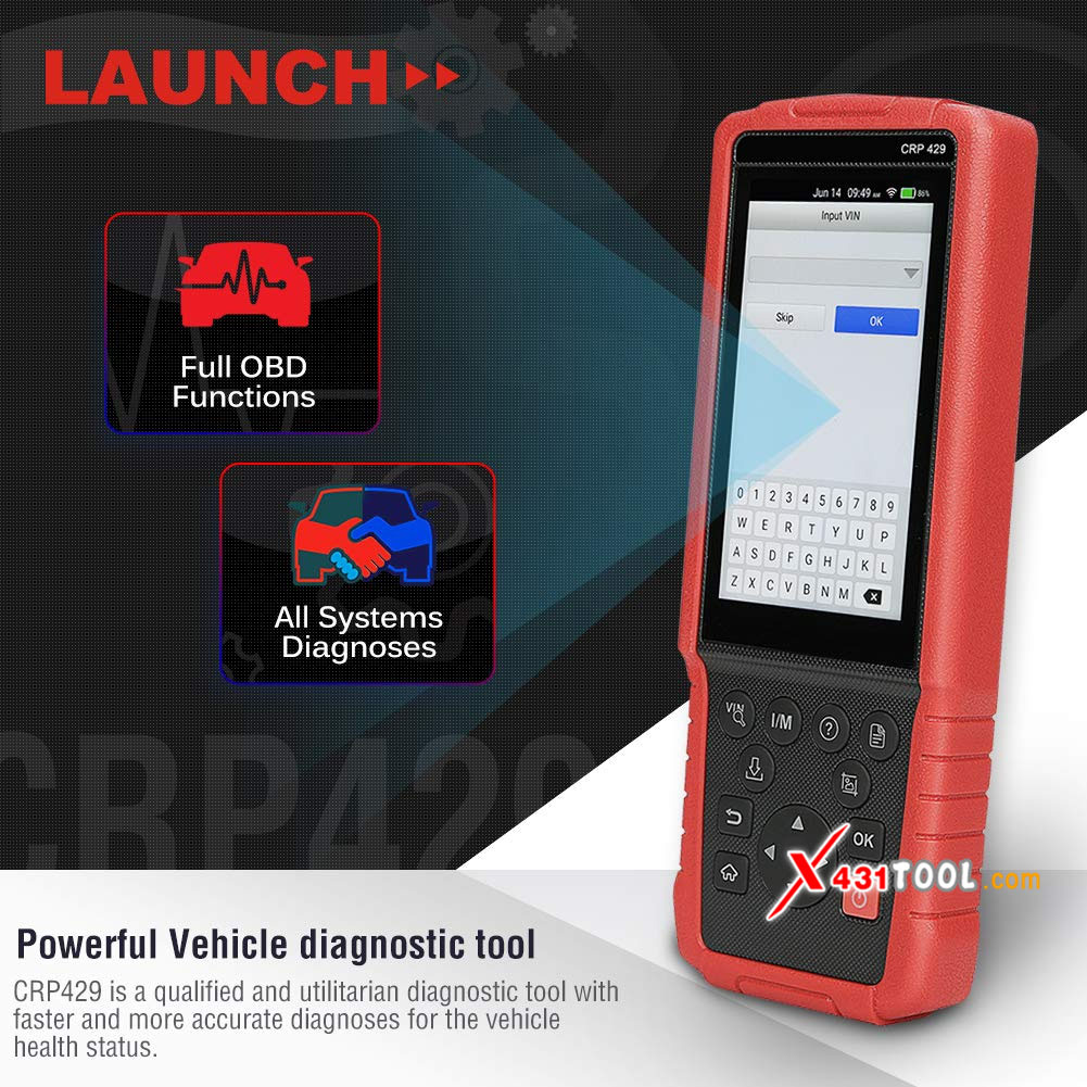 Original LAUNCH CRP429 Full System Diagnostic Tool With