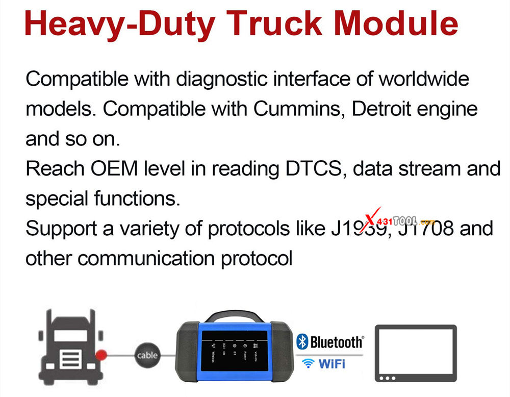 LAUNCH Universal Heavy Duty Diesel Truck Diagnostic Tool